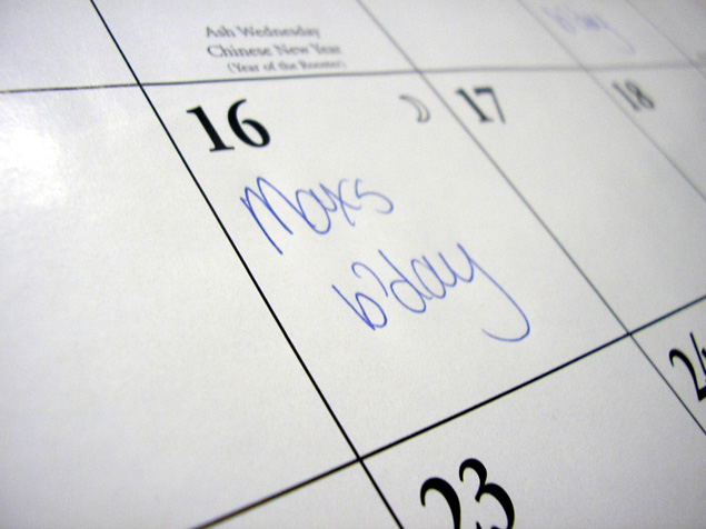 having a centralized calendar is important to the success of your family entertainment center